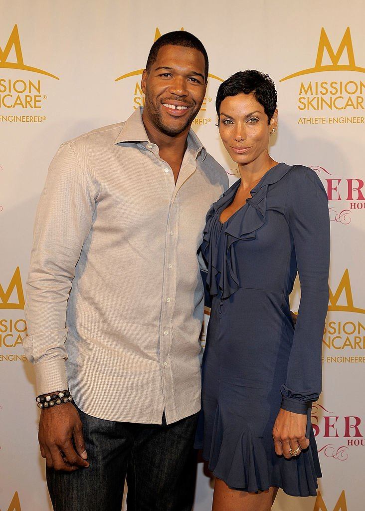 Former football player Michael Strahan and Nicole Murphy attend professional tennis player Serena Williams' Pre-ESPYs House Party held at a private residence in Bel Air, California | Photo: Getty Images
