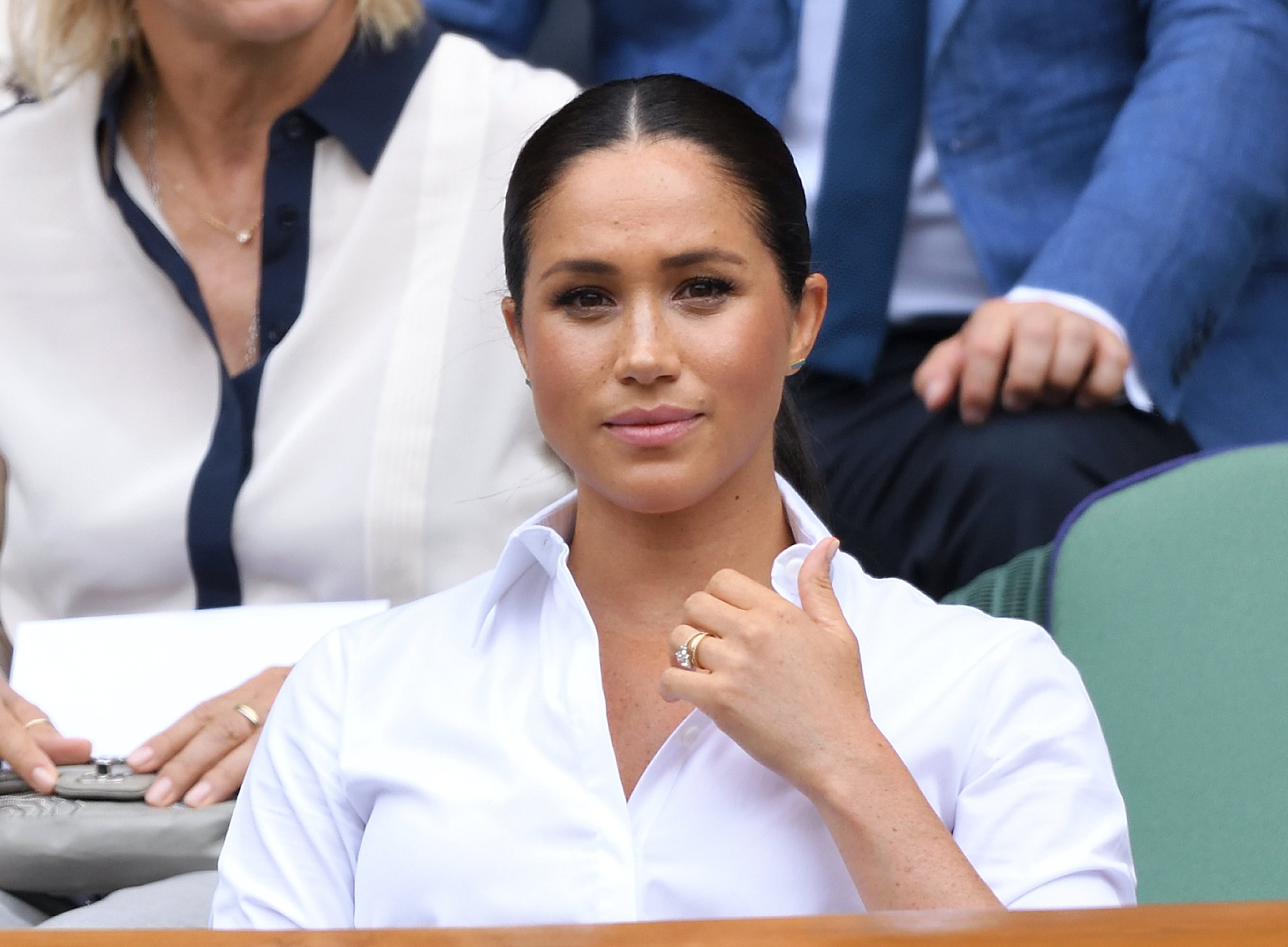 La duchesse Meghan Markle à la finale de Wimbledon | Photo : Getty Images