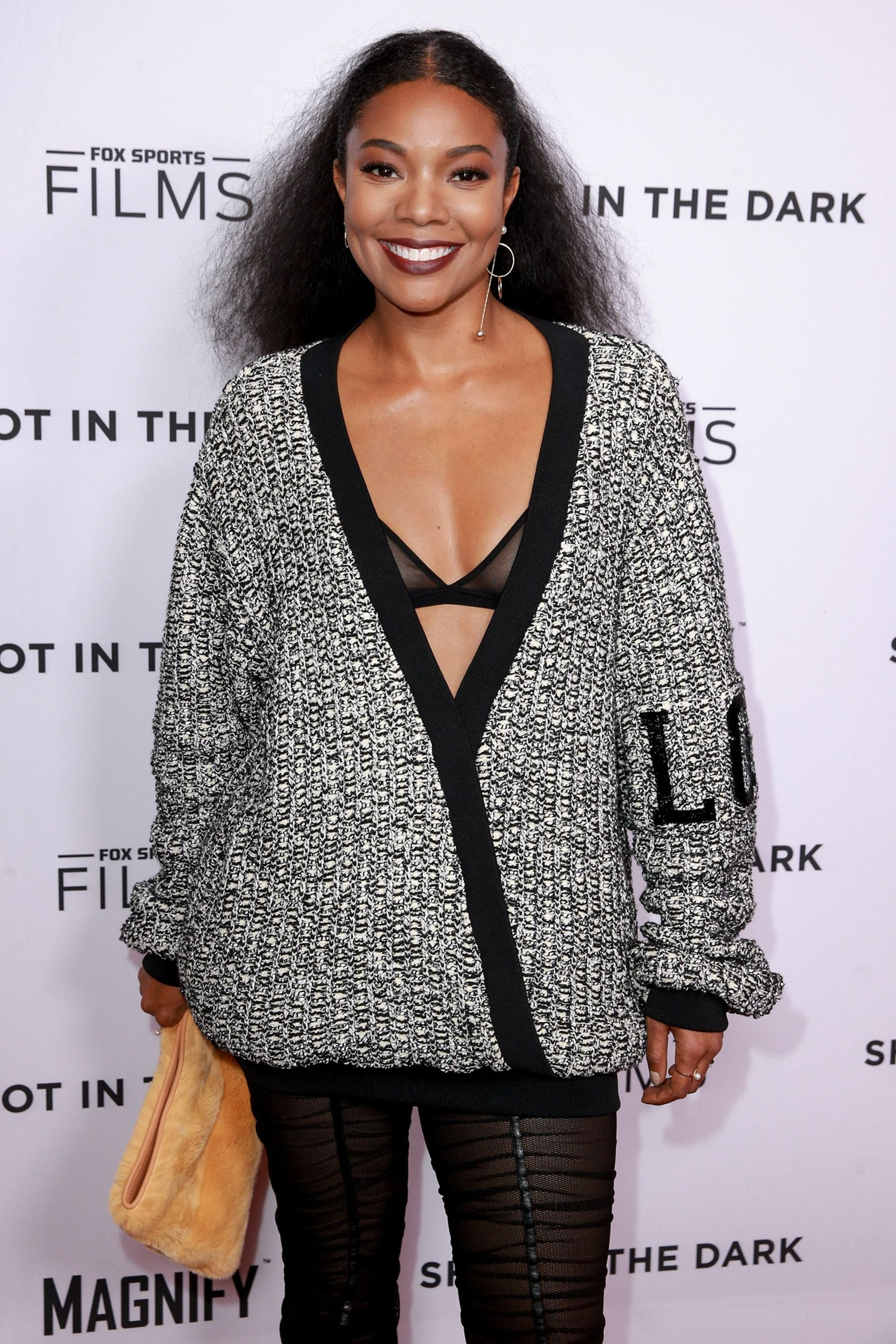 """Gabrielle Union during Magnify and Fox Sports Films' """"Shot In The Dark"""" documentary premiere screening and panel discussion at Pacific Design Center on February 15, 2018 in West Hollywood, California. 