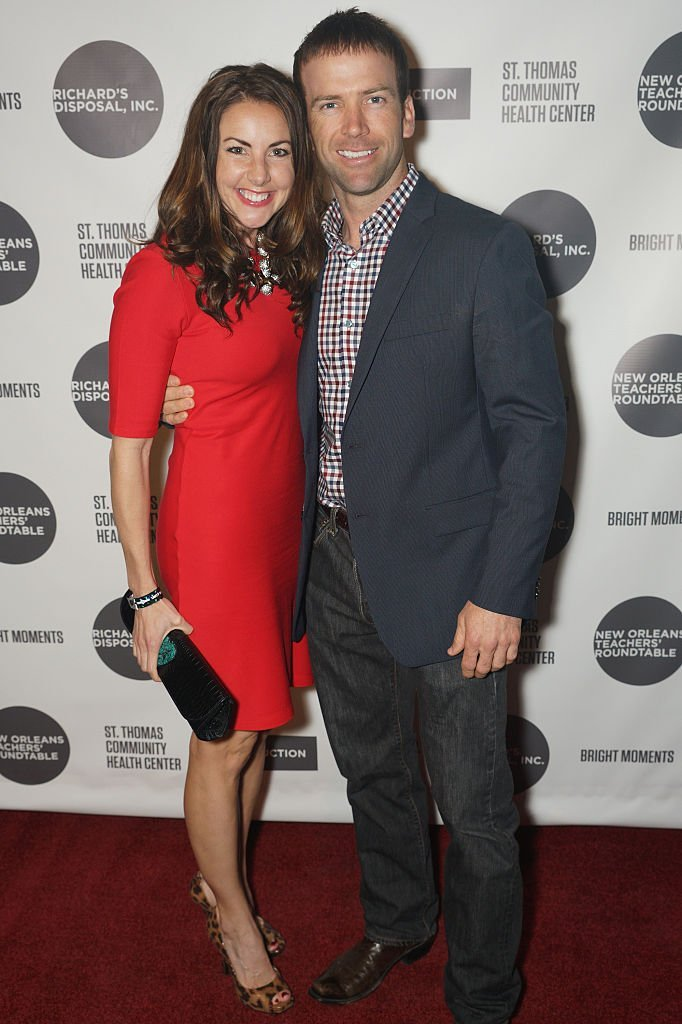 Lucas Black and wife, Maggie O'Brien arrive on the red carpet at House of Blues  | Getty Images
