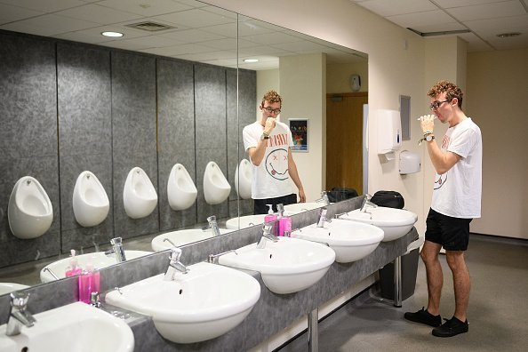 A man pictured using the restroom at the Kettering Conference Centre   Photo: Getty Images