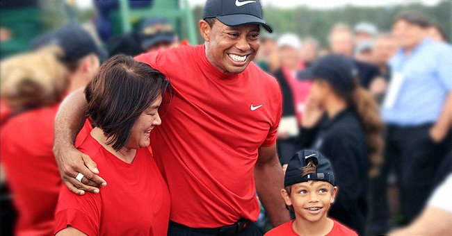 Tiger Woods Acted as Caddy for His 10-Year-Old Son Charlie during Recent Junior Golf Event