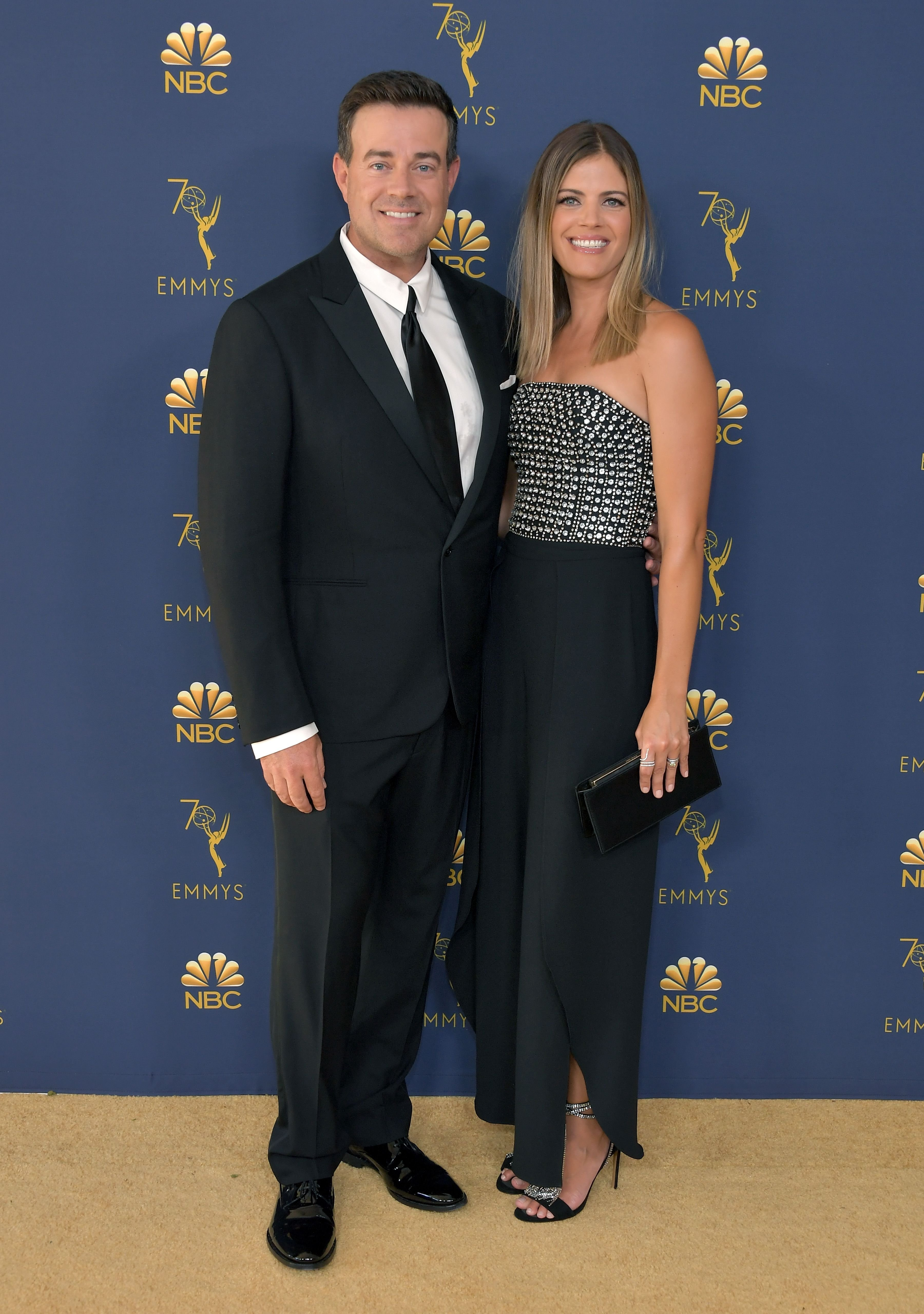 Carson Daly and Siri Pinter attend the 70th Emmy Awards, 2018,Los Angeles, California| Photo: by Neilson Barnard/Getty Images)