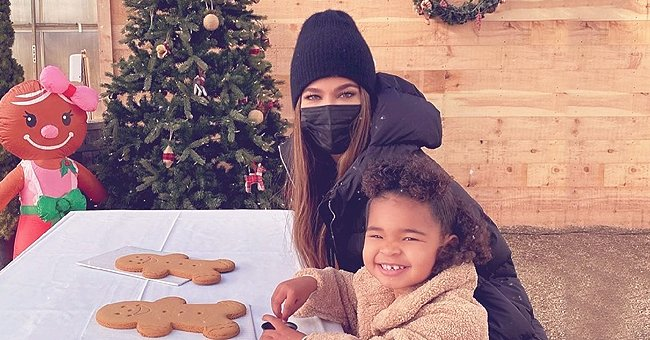 Khloé Kardashian Shares Cute Moment as She Decorates a Gingerbread Man with Her Daughter True