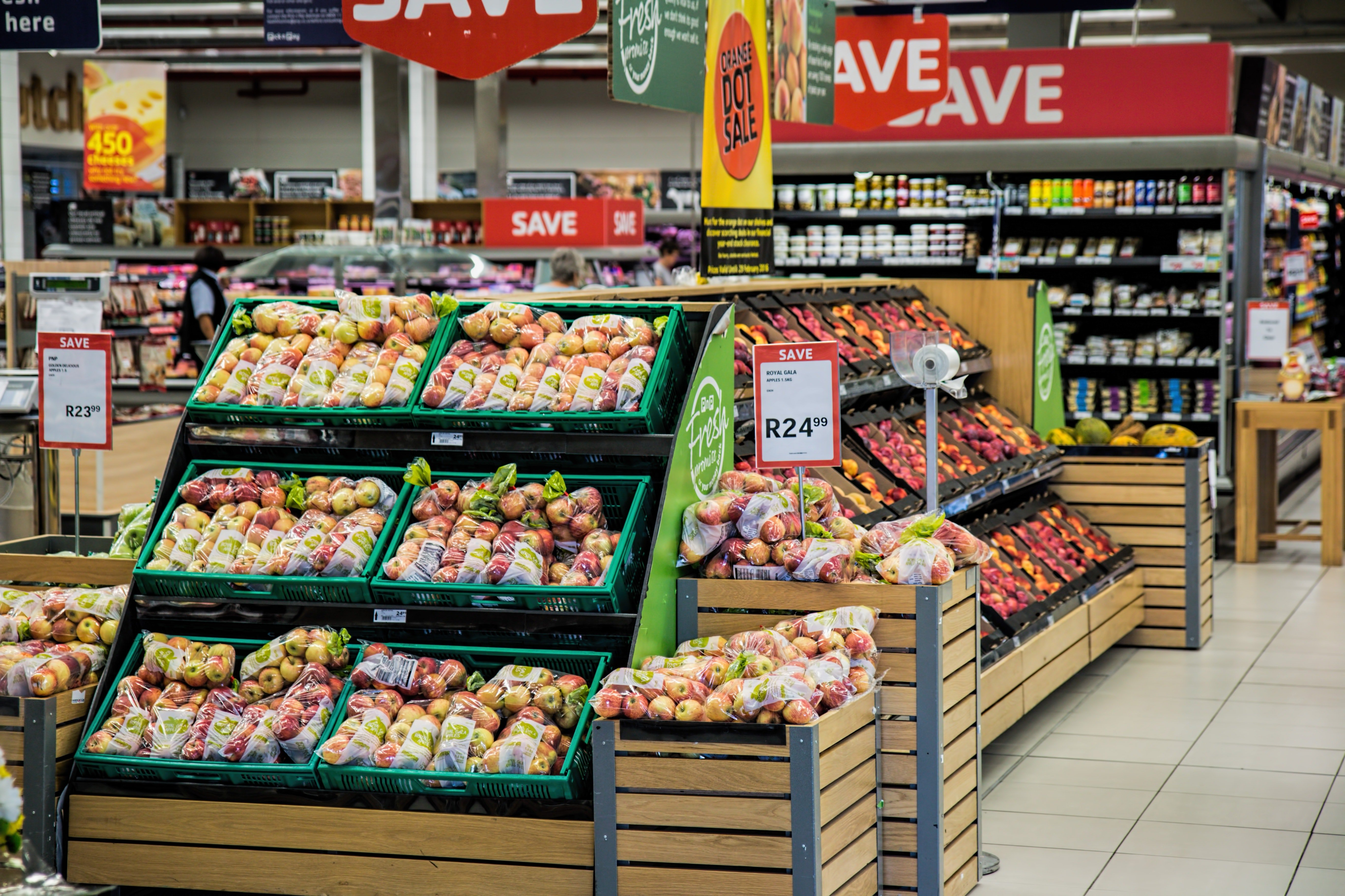 A grocery store   Photo: Pexels