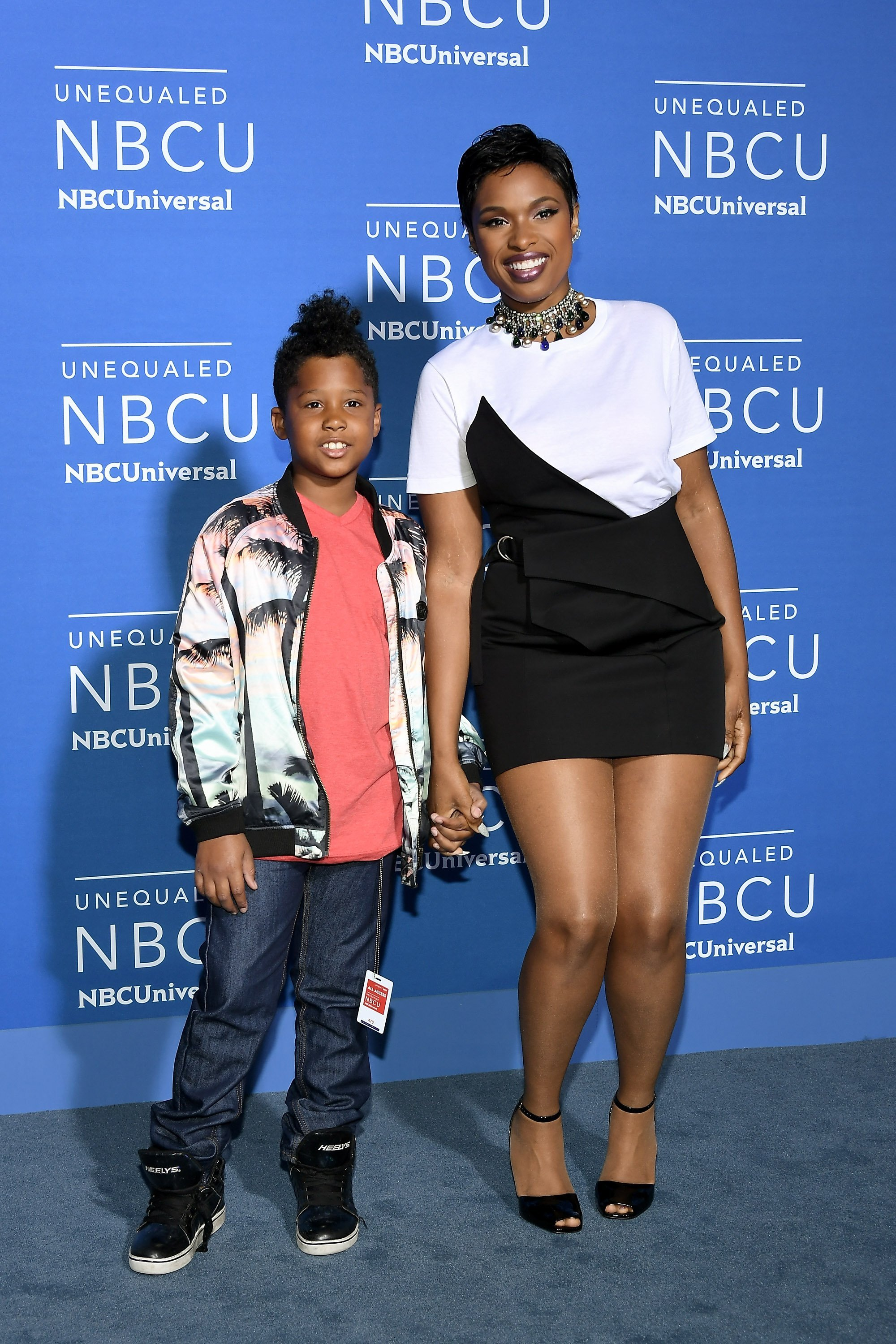 Jennifer Hudson and son, David Otunga Jr. at the 2017 NBC Universal Upfront in New York. | Photo: Getty Images