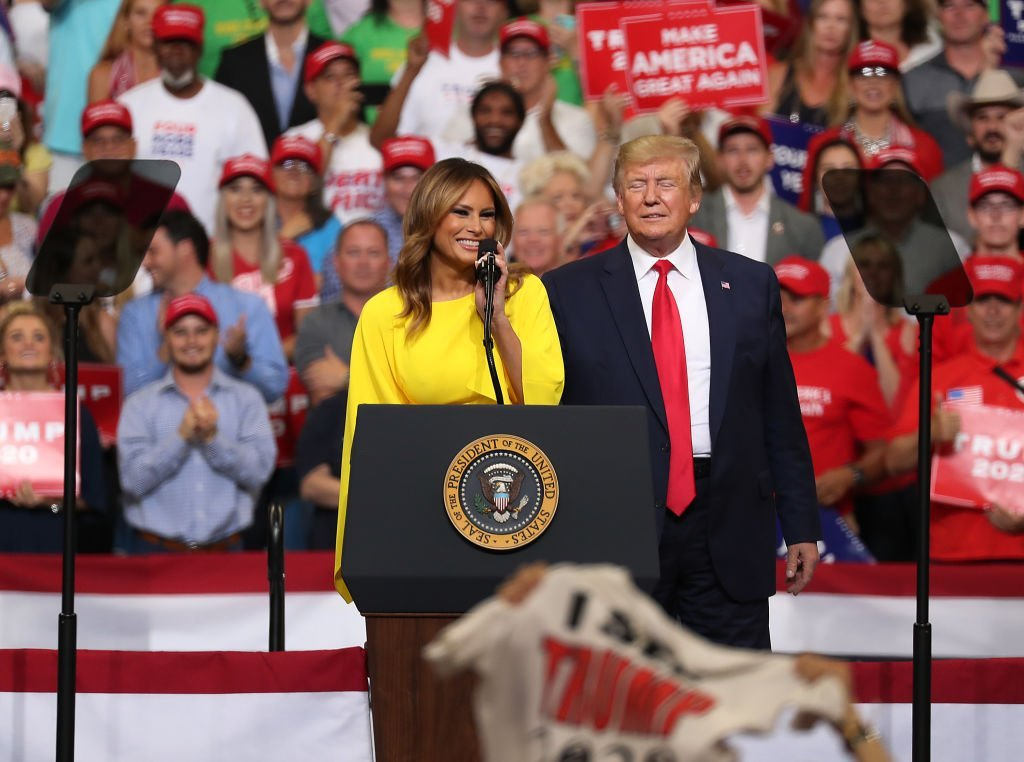 First Lady Melania and President Donald Trump at Florida rally | Photo: Getty Images