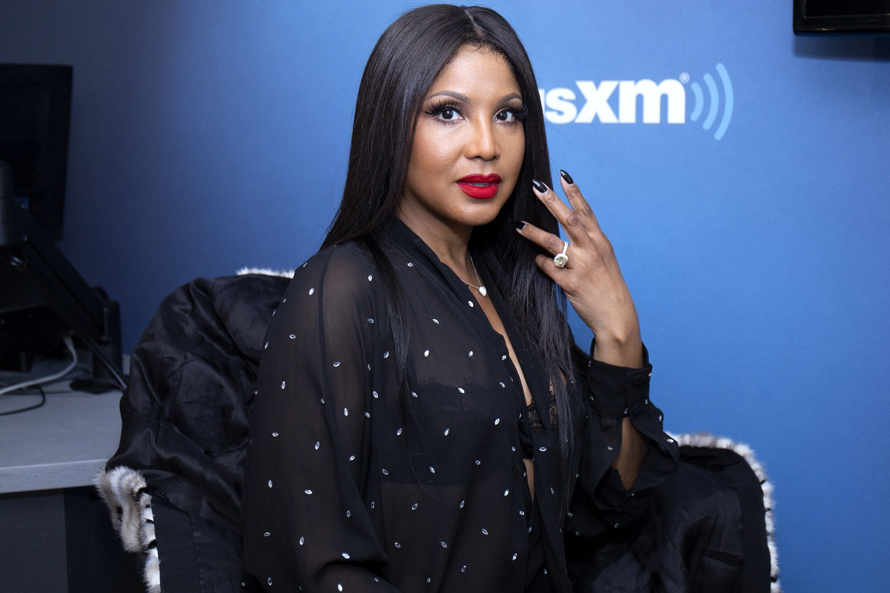 Toni Braxton visits SiriusXM. | Source: Getty Images