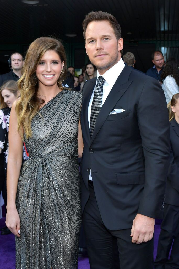 "Chris Pratt and Katherine Schwarzenegger at the world premiere of ""Avengers: Endgame"" in Los Angeles, California 