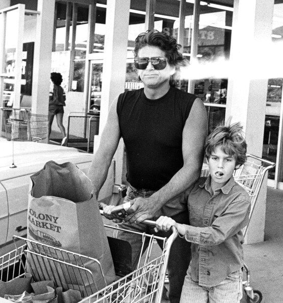 Actor Michael Landon and son Christopher Landon sighted at Colony Market Food Store in Malibu, California  | Photo: Getty Images
