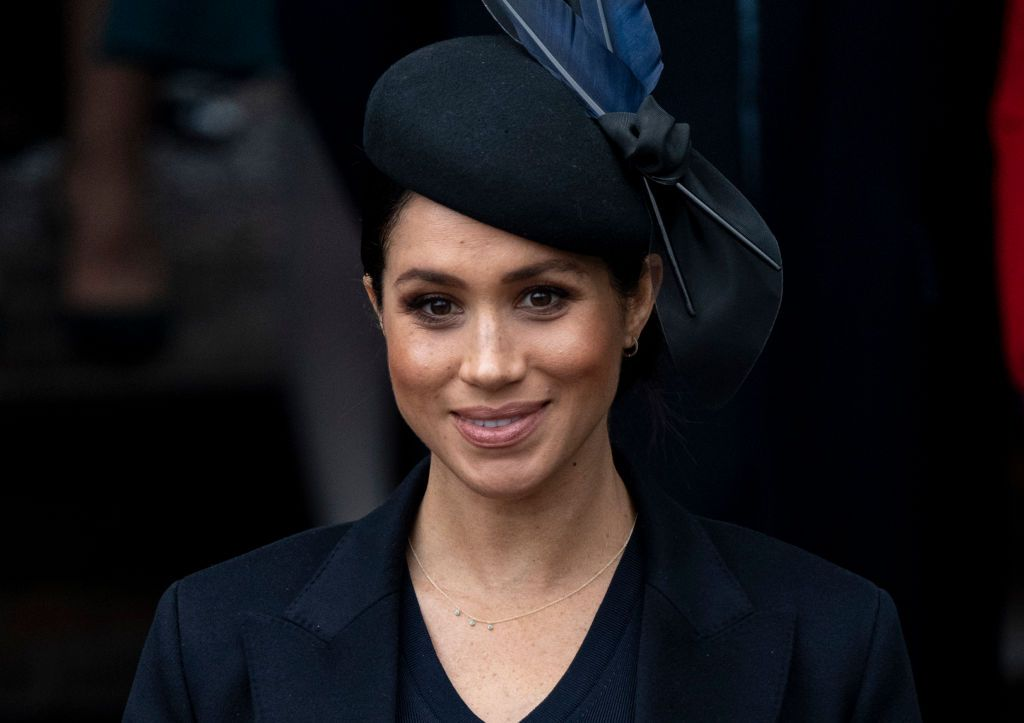 Duchess Meghan at the Christmas Day Church service at Church of St Mary Magdalene on December 25, 2018, in King's Lynn, England | Photo: UK Press Pool/Getty Images