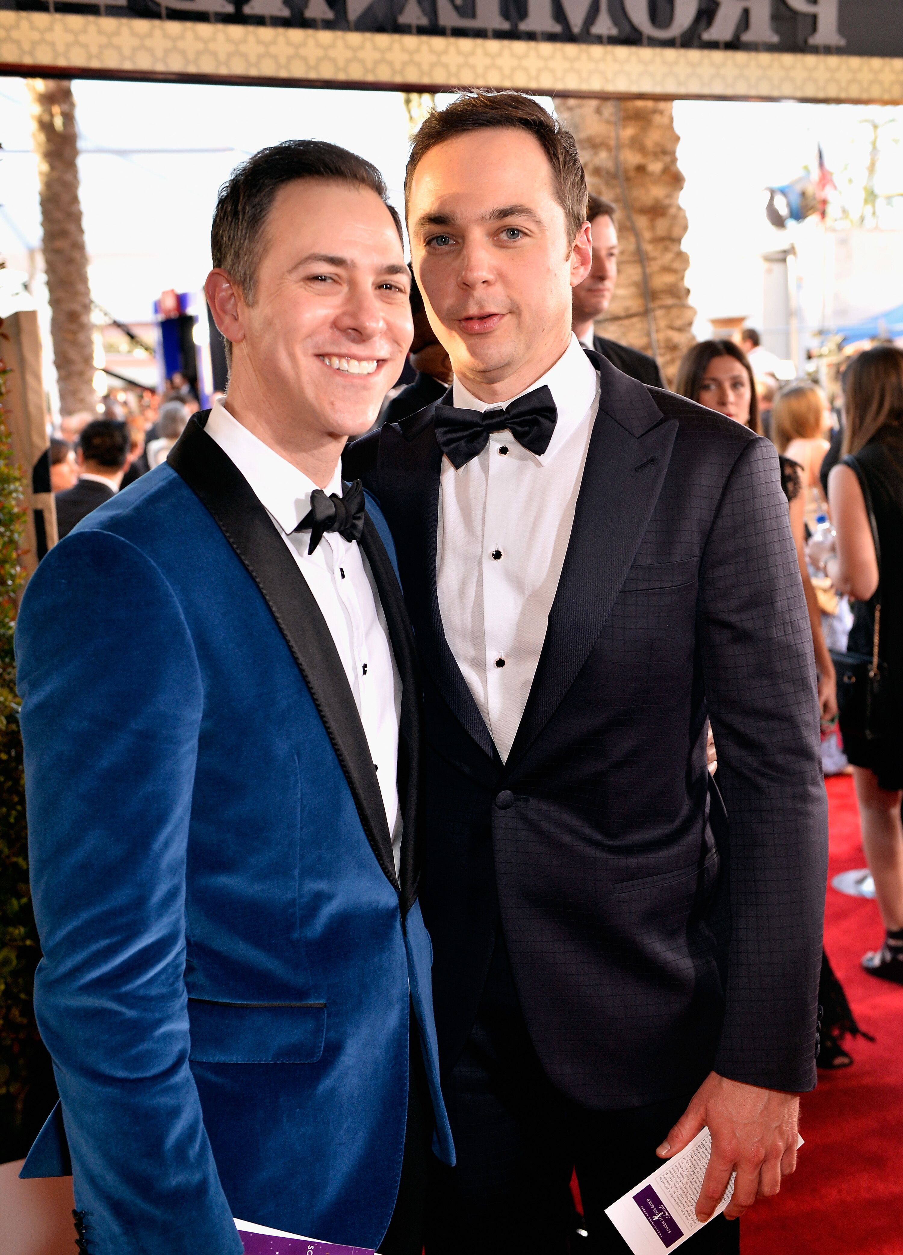 Jim Parsons and Todd Spiewak attend The 23rd Annual Screen Actors Guild Awards. | Source: Getty Images