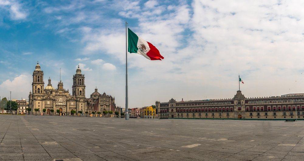 Vista panorámica de El Zócalo en Ciudad de México.| Fuente: Shutterstock