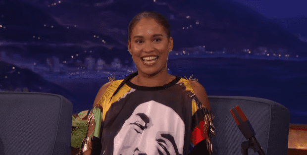 Joy Bryant during an interview with Conan O'Brien in October 2016 | Photo: YouTube/Team Coco