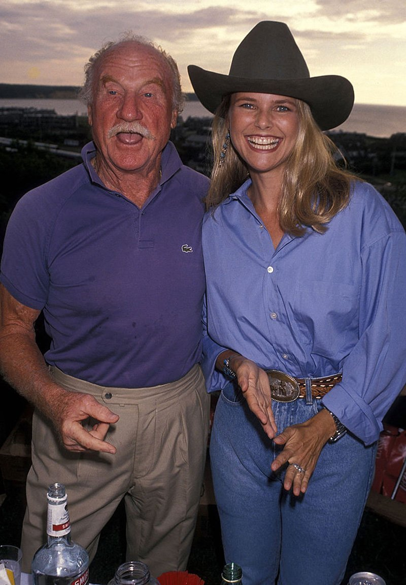 Late actor Jack Warden and model Christie Brinkley at the 1990 Scenery-Greenery Celebrity Cocktail Party to Benefit the Montauk Village Association in Long Island, New York. I Image: Getty Images.