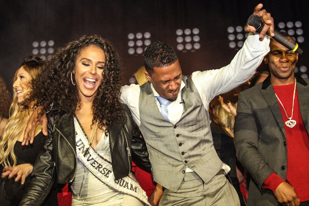 Brittany Bell and Nick Cannon at The Maxim Superbowl party on January 31, 2015 | Photo: Getty Images
