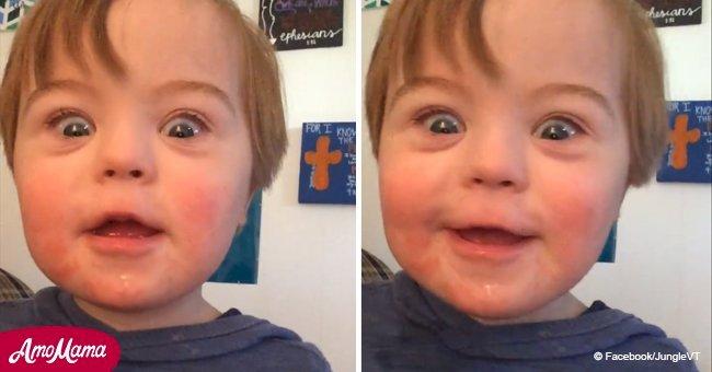 Conoce a John David, un hermoso niño con síndrome de Down que robó corazones al recitar el ABC