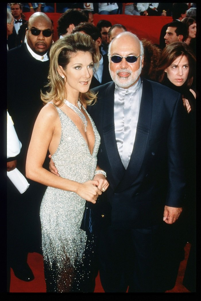 Celine Dion and her husband Rene Angelil arrive at the 69th Annual Academy Awards ceremony March 24, 1997 in Los Angeles, California. I Image: Getty Images