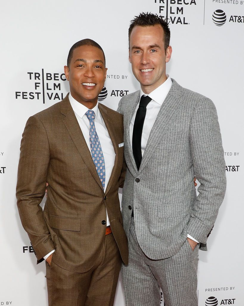 "Don Lemon and boyfriend, Tim Malone at the ""Clive Davis: The Soundtrack Of Our Lives"" 2017 Opening Gala of the Tribeca Film Festival at Radio City Music Hall on April 19, 2017 