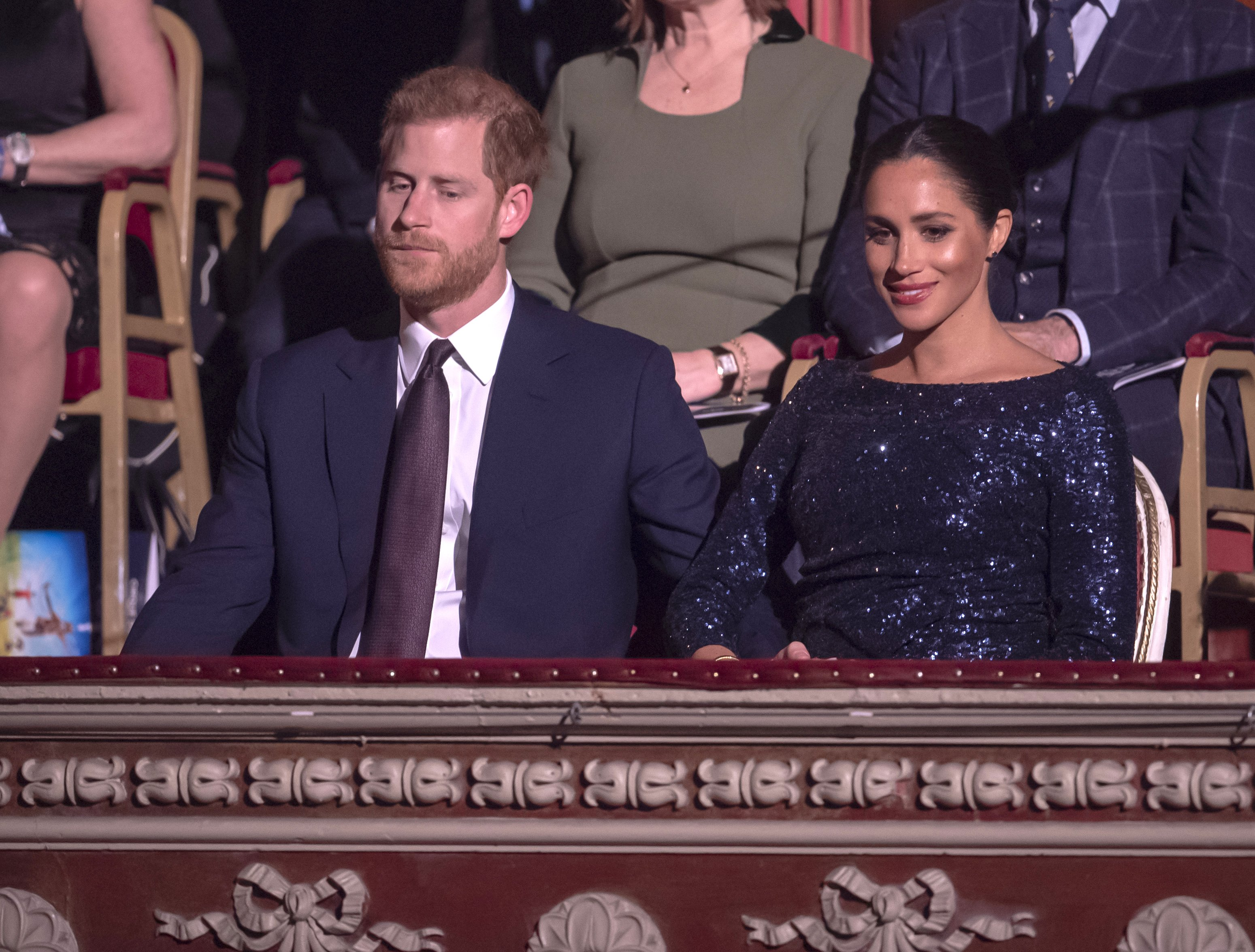 """Prince Harry and Meghan Markle attend the Cirque du Soleil Premiere Of """"TOTEM"""" at Royal Albert Hall on January 16, 2019 in London, England   Photo: Getty Images"""