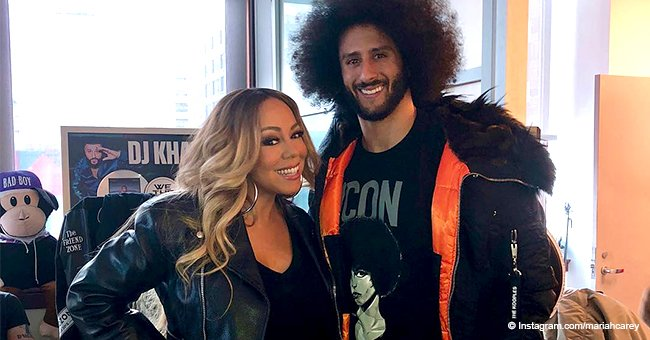 Mariah Carey sparks outrage from MAGA supporters after posing with Colin Kaepernick in pic