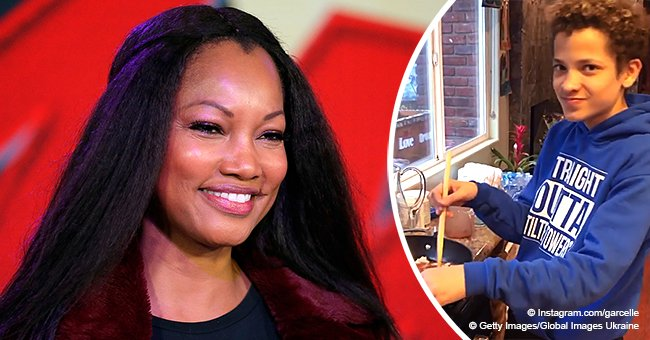 Garcelle Beauvais grabs attention with video of her curly-haired twin son dancing while cooking