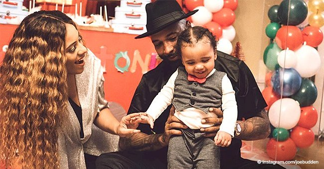 Joe Budden & Cyn Santana celebrate son's 1st birthday with an Elmo Christmas-themed party in photos