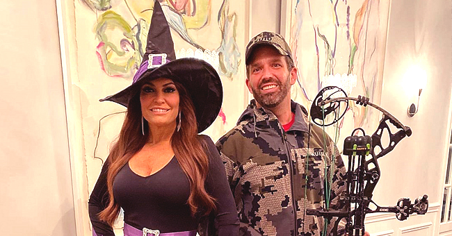 Donald Trump Jr Wields Bow and Arrow Set While Girlfriend Kimberly Guilfoyle Dresses as a Witch for Halloween