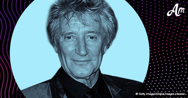 Rod Stewart proudly poses with his four handsome sons, aged 7 to 37