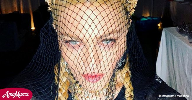 Covered in crosses, Madonna shows off her 'Catholic' look at Met Gala