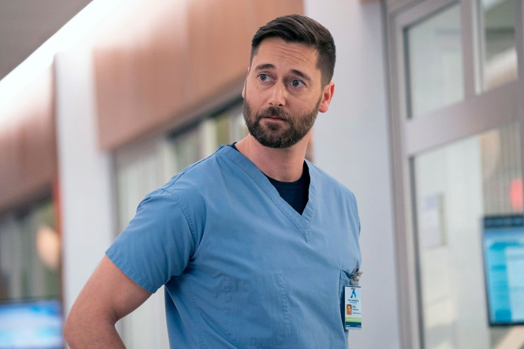 """Actor Ryan Eggold as Dr. Max Goodwin on the set of the medical drama series, """"New Amsterdam"""" Season 3 episode 308 │ Getty Images"""