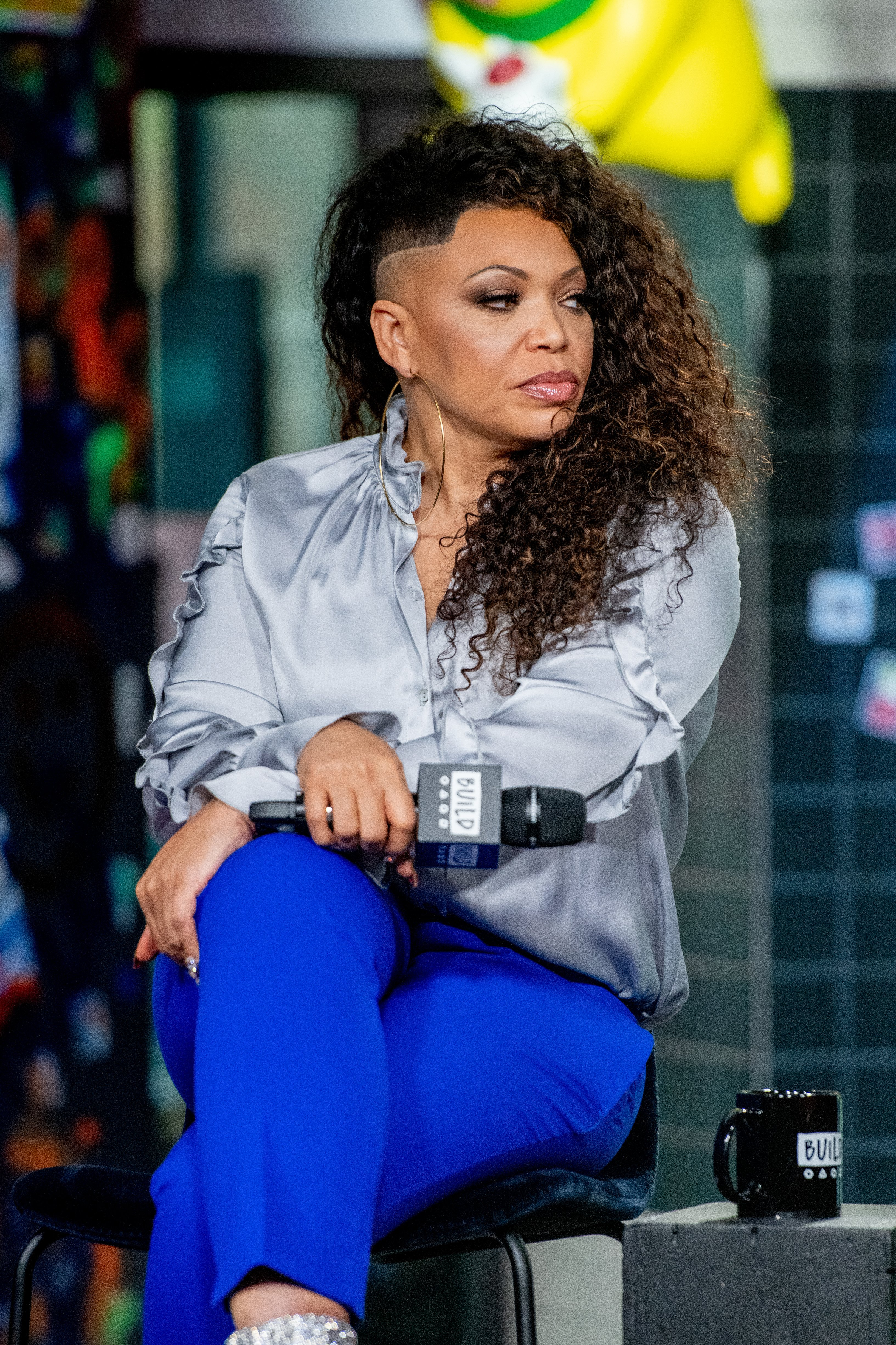"Tisha Campbell discusses ""The Neighborhood"" with the Build Series at Build Studio on November 20, 2018. 
