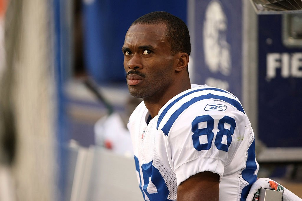 Marvin Harrison during a game against the Green Bay Packers on October 19, 2008 at Lambeau Field in Green Bay Wisconsin   Photo: GettyImages