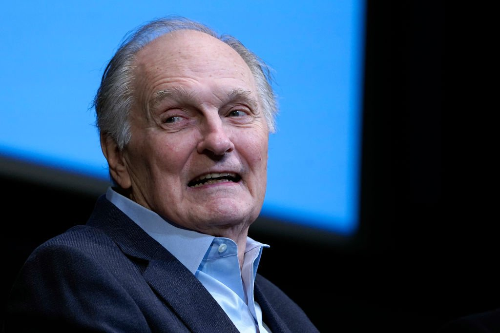 """Alan Alda speaks during the film discussion of """"Marriage Story"""" during the press conference at Walter Reade Theater on October 04, 2019 