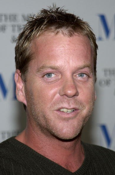 "Kiefer Sutherland attends a seminar and DVD launch of the first season of the television show ""24"" at the Museum of Television And Radio on August 27, 2002, in Beverly Hills, California. 