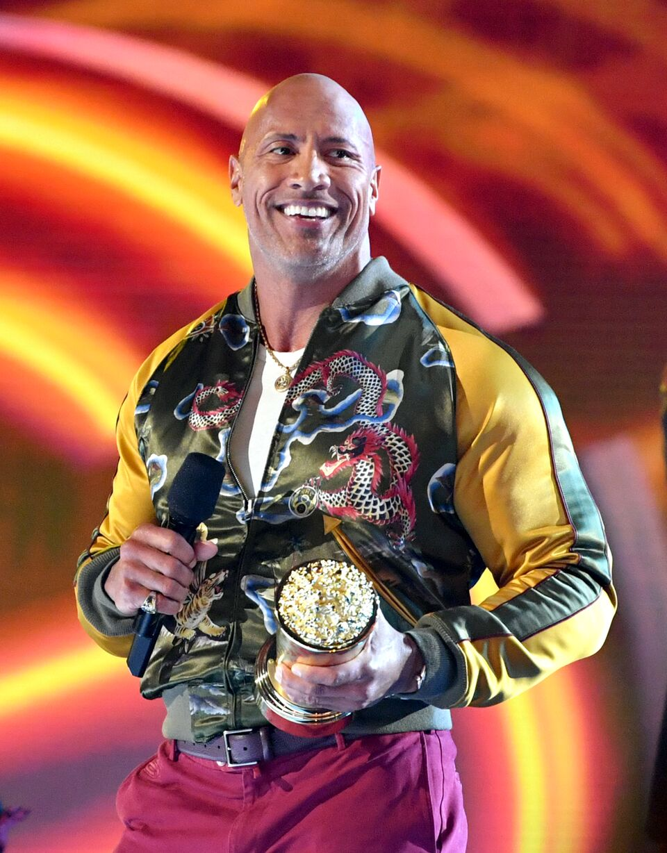 Dwayne Johnson attends the 2019 MTV Movie and TV Awards. | Source: Getty Images