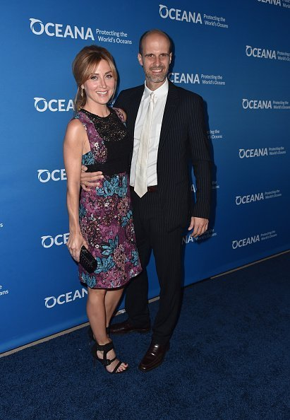 Actress Sasha Alexander and director Edoardo Ponti attend the 'Concert For Our Oceans' hosted by Seth MacFarlane benefitting Oceana at The Wallis Annenberg Center for the Performing Arts on September 28, 2015, in Beverly Hills, California. | Source: Getty Images.