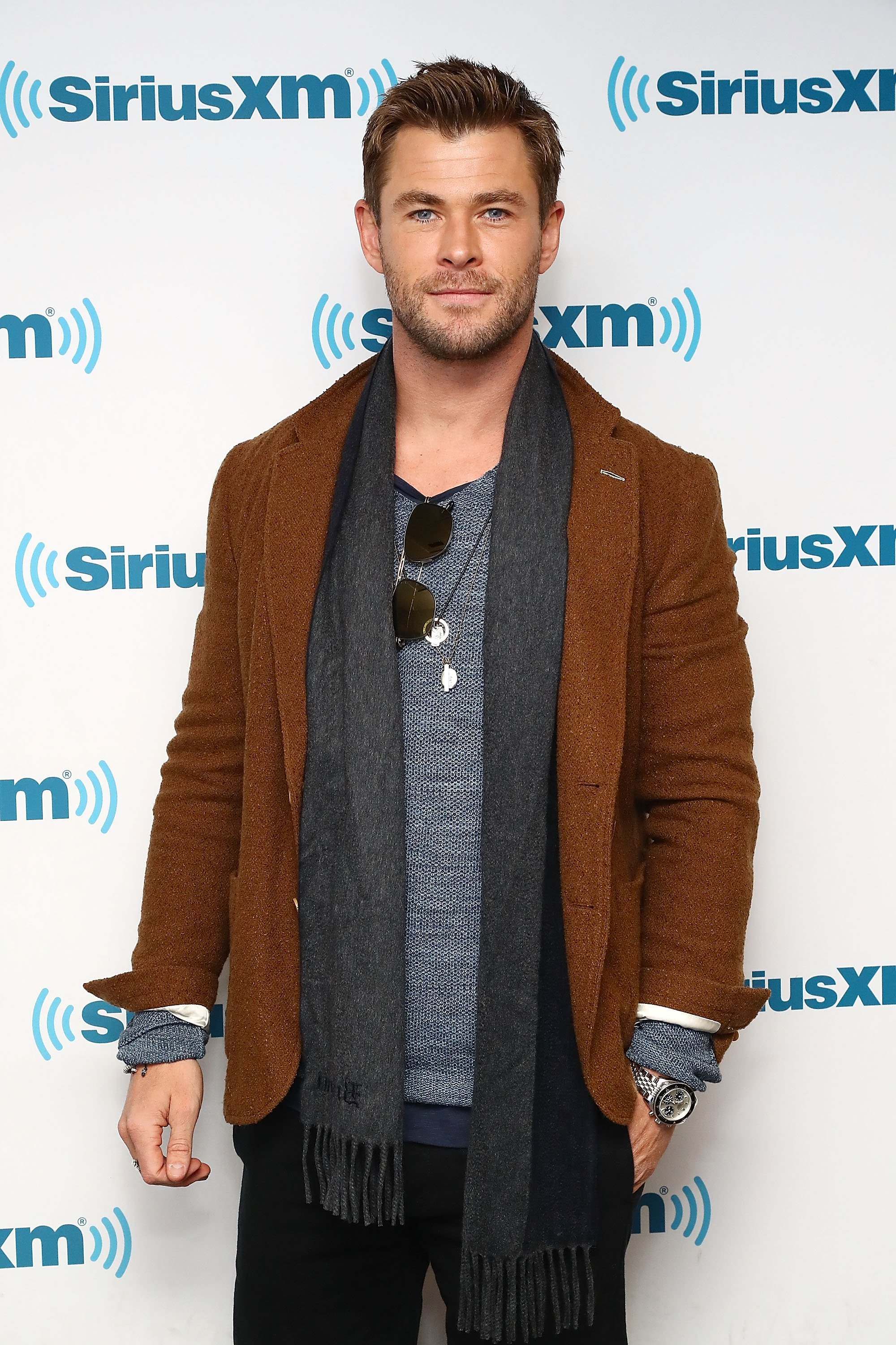 Chris Hemsworth visits the SiriusXM studios on January 16, 2018 in New York City | Photo: Getty Images
