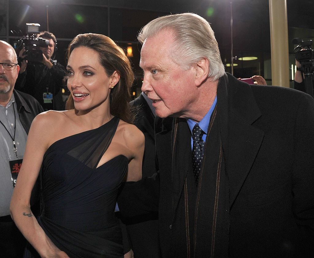 """Angelina Jolie and Jon Voight at the premiere of """"In The Land Of Blood And Honey"""" , LA, 2011 
