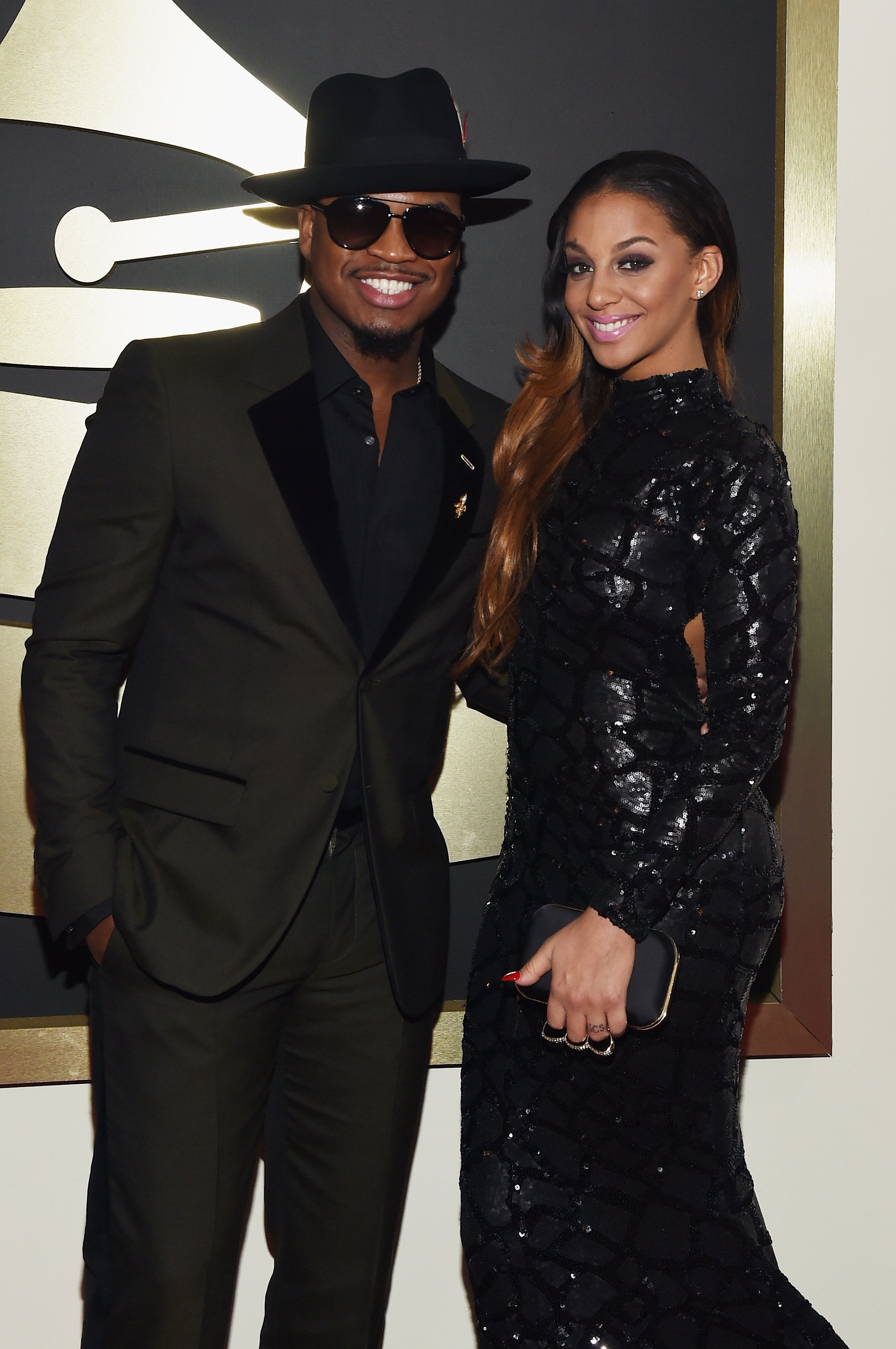 Ne-Yo and Crystal Smith at the red carpet of the 57th Grammy Awards at the Staples Center in February 2015. | Photo: Getty Images