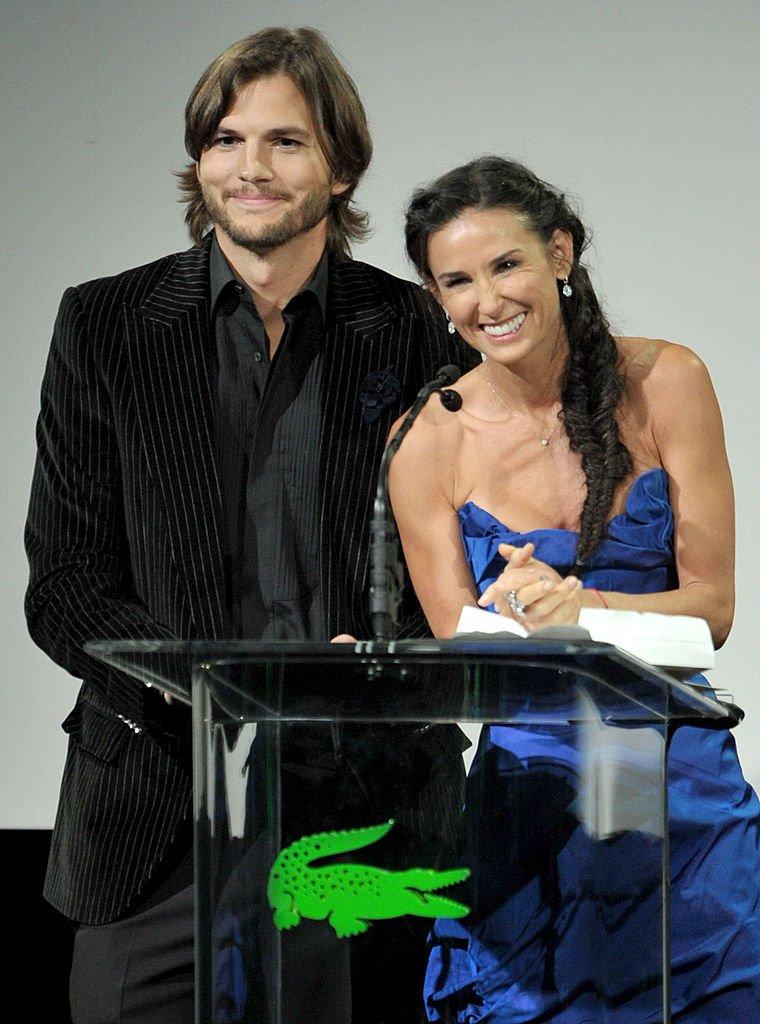 Ashton Kutcher et Demi Moore lors de la 13e cérémonie annuelle des Costume Designers Guild Awards   Photo: Getty Images