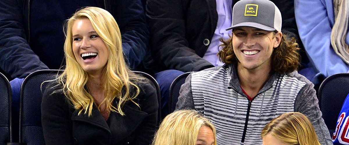 Stacey Harris and Jacob deGrom at Madison Square Garden on November 11, 2014   Photo: Getty Images