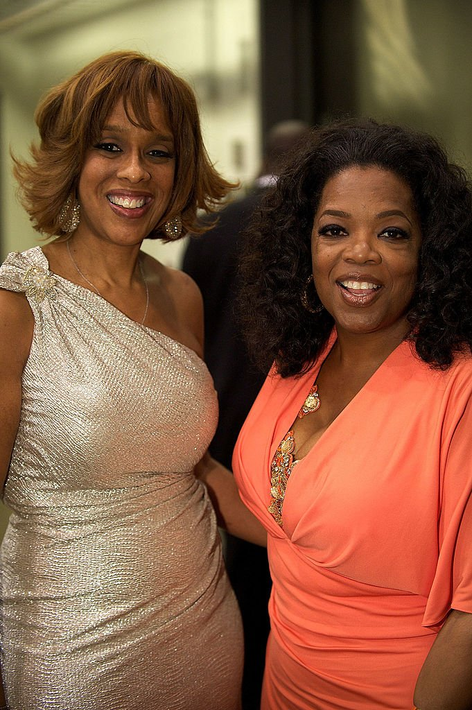 """Gayle King and Oprah Winfrey at the 35th Anniversary Celebration for Bishop Thomas Dexter """"T.D."""" Jakes, Sr. on June 8, 2012, in Texas   Getty Images"""