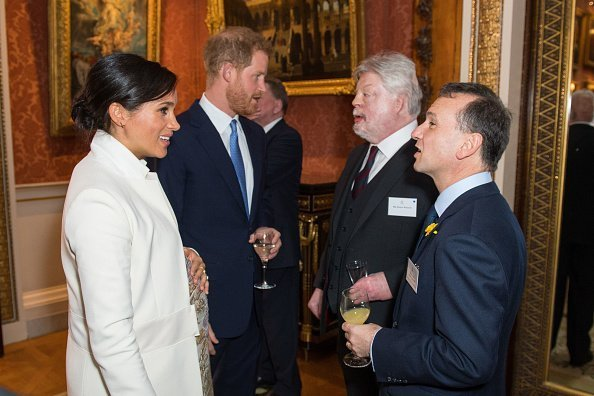 Meghan, Duchess of Sussex Duke and Prince Harry, Duke of Sussex meet Simon Weston and Alun Cairns | Photo: Getty Images