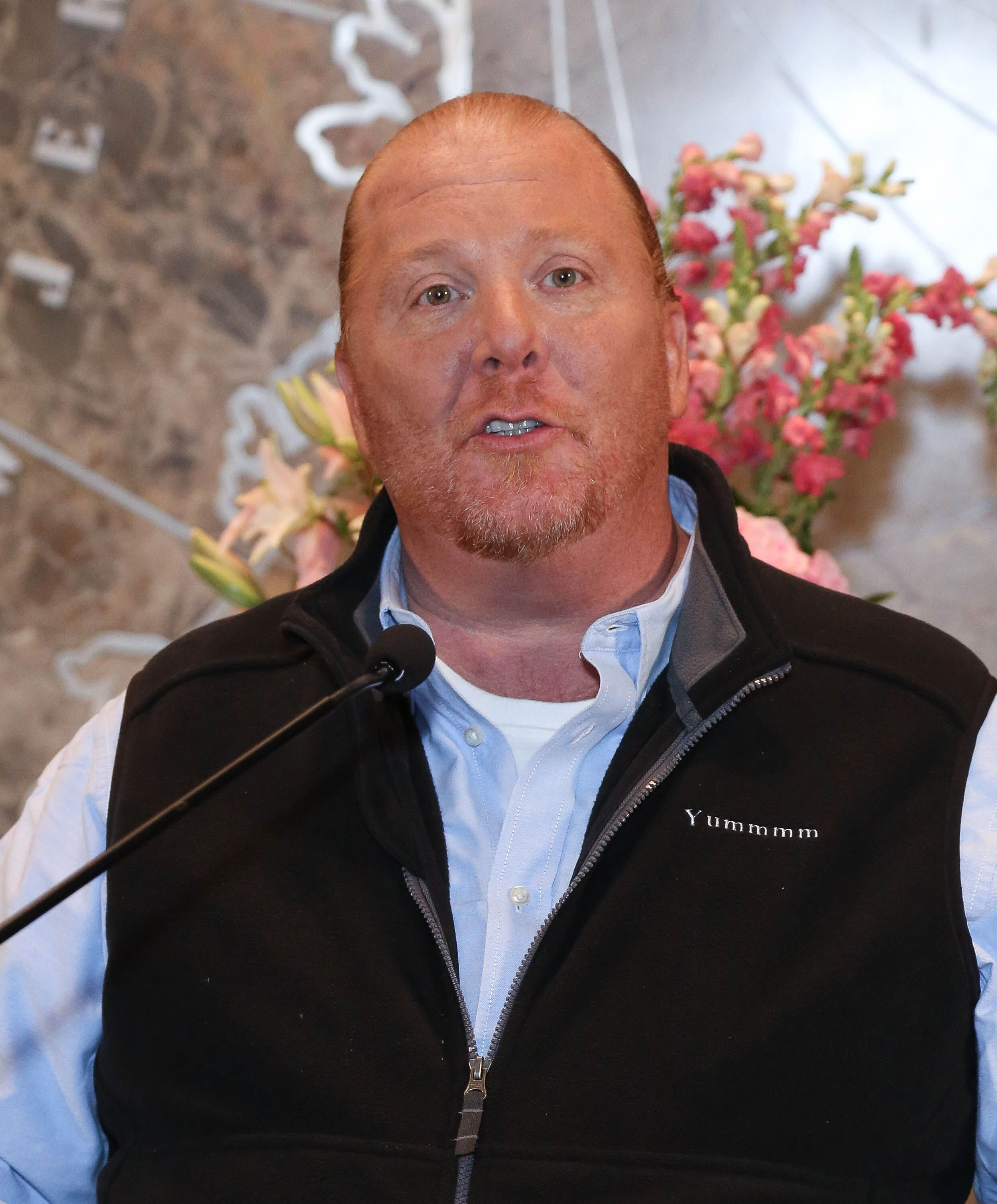 Mario Batali lights the Empire State Building orange. | Source: Getty Images