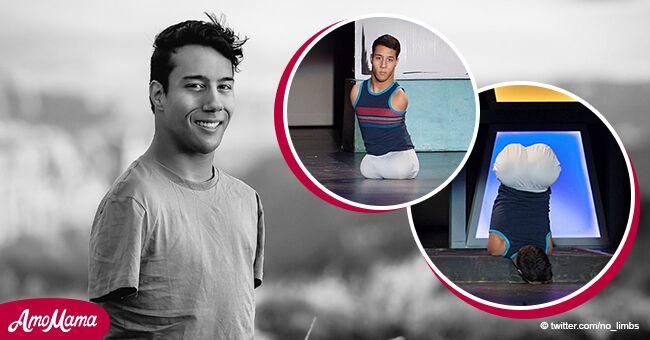 Un homme né sans bras ni jambes devient danseur professionnel