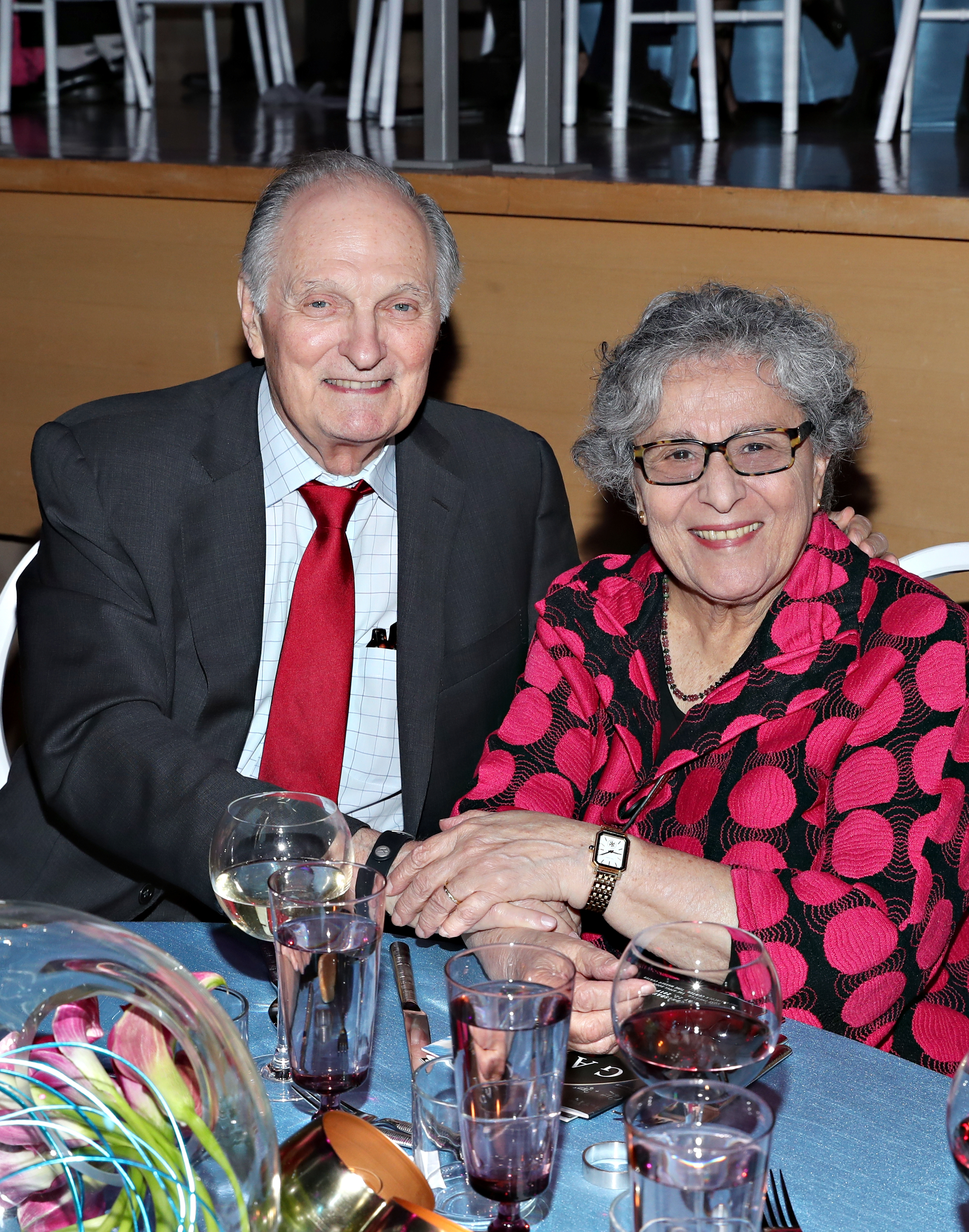 Alda and wife, Arlene. Image Credit: Getty Images