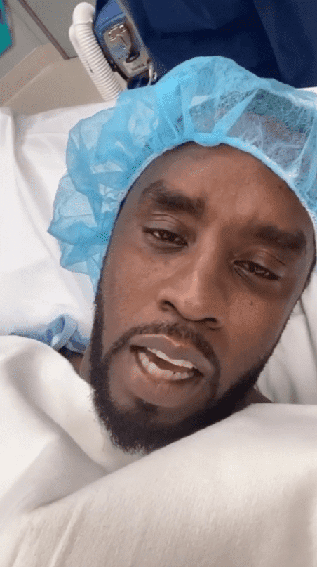 Diddy on the hospital bed, before undergoing surgery. | Photo: Instagram/@diddy