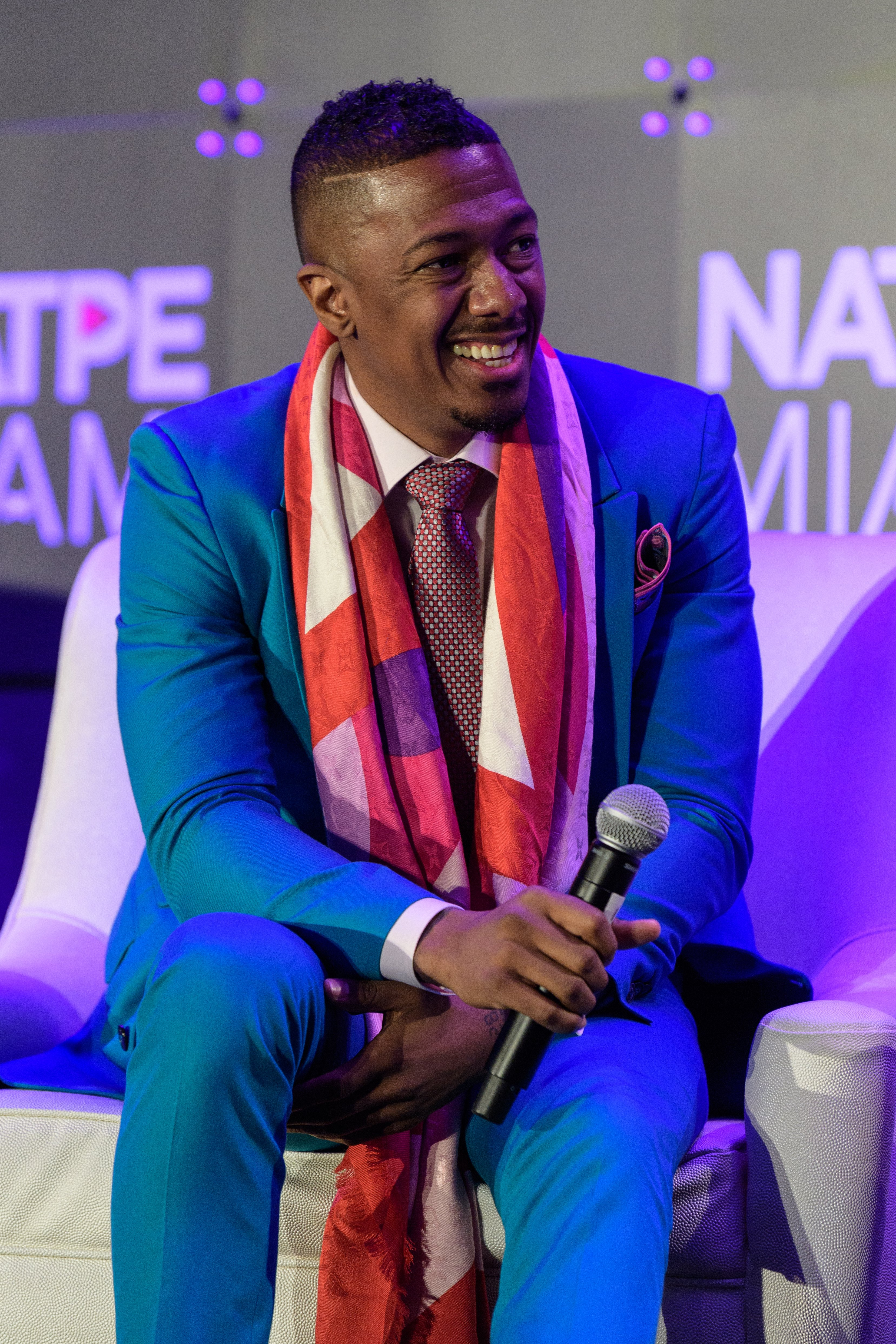 Nick Cannon at the NATPE Miami 2020 - Iris Awards at Fontainebleau Hotel on January 22, 2020 in Miami Beach, Florida. | Source: Getty Images