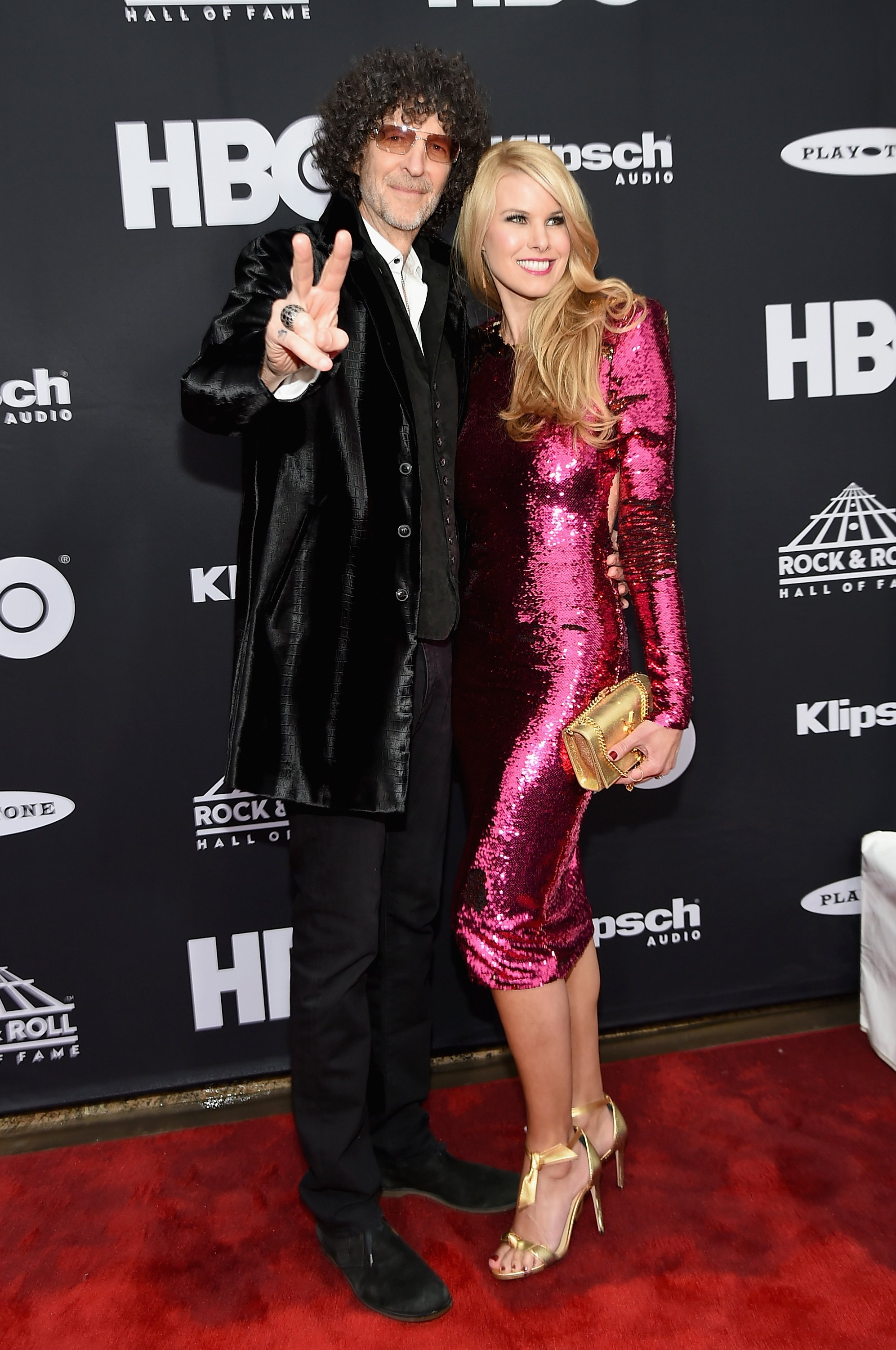 Howard Stern and Beth Ostrosky Stern attend the 33rd Annual Rock & Roll Hall of Fame Induction Ceremony at Public Auditorium on April 14, 2018  | Photo: GettyImages